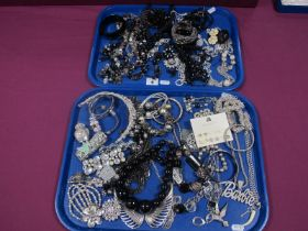 A Selection of Modern Costume Jewellery, including a large Barbie pendant on chain, a Tiara,