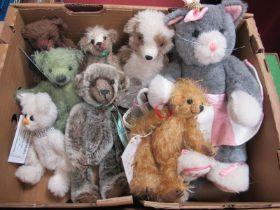 Eight Small Teddy Bears, by Beartown Bears, Lenny Bears, patch bears etc (no odours).