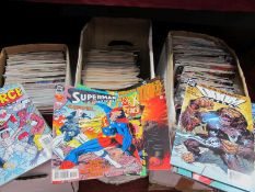 Three Boxes of Mostly Marvel and DC Comics, to include Superman, X-Men, Generation X, Manhunter,