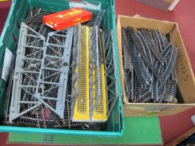 A Fair Quantity (Two Boxes) of Loose 'OO' Gauge/4mm Track, by various makers - full and half