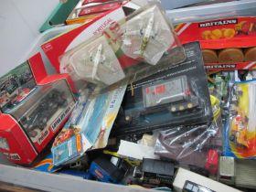 A Plastic Box of Modern Diecast, etc, lorries/cars, etc, playworn to very good.