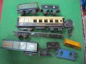 A Pre-War 'O' Gauge Hornby No. 2 Pullman Coach 'Arcadia', cream over brown livery, along with LNER