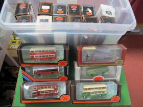 Eighteen E.F.E 1/76 Scale Boxed Buses/Coaches, various liveries (good to very good).