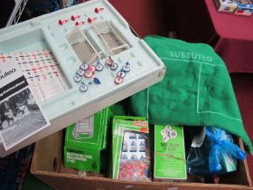 Subbuteo - Table Soccer, club edition (boxed, unchecked), C115 match score recorder, team packs,