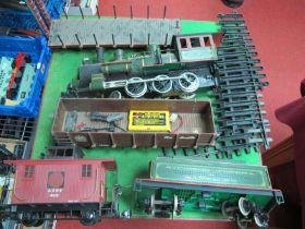 "Bachmann ""G"" Gauge Big Haulier U.S.A Outline 4-6-0 Steam Locomotive Eight Wheel double Bogie Tender,"