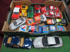 """Six """"Action"""" 1/24 Scale Unboxed """"Nascar"""" Cars, plus five other unboxed 1/24 scale cars, a Chevy"""