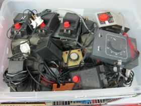 One Box of Thirteen Plus Assorted Controllers, by Hornby Ref 965's, H and M, E.C.M etc (all untested