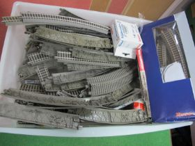 A Quantity of 'HO' Gauge Track, by Fleischmann and Roco, points, curves, straights, etc.