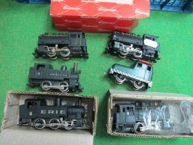 Six Rivarossi 'HO' Gauge 0-4-0 U.S.A Outline Steam Tank Locomotives, unboxed/good U.T.
