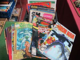 A Quantity of 1970's and Later Comics and Other Entertainment Ephemera, to include Marvel, Iron
