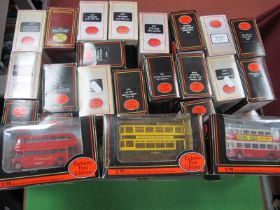 Twenty Five E.F.E 1/76 Scale Boxed Buses/Coaches, various liveries, (good to very good).