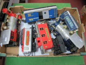 """Two """"New Bright"""" 'G' Gauge """"Old Timer"""" U.S.A Outline Steam Locomotives and Eight Wheel Double"""