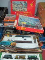"""Five 'OO' Gauge/4mm Train Sets, Lima diesel shunter plus two wagons (part box, poor), a """"Wanted"""""""