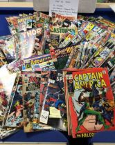 Over 200 Marvel Comics from 1960 to 1990s to include Captain America, Strange Tales, Spider-Man,