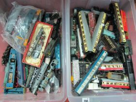 A Quantity of Damaged and/or Missing Small Parts, items of rolling stock, coaches, wagons, etc ('OO'