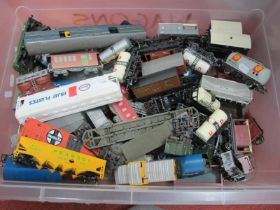 One Box of Approximately Fifty Items of Unboxed Rolling Stock,'OO' Gauge/4mm mainly Triang, fair