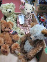 Four Teddy Bears by Merrythought, Kaycee Bears, Aston Drake and Gigi (no odours)