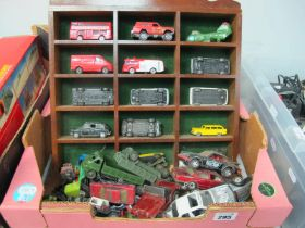 A Quantity of Playworn Diecast Vehicles, to include Dinky 621 Army wagon, Corgi Jeep CJ.S Lesney #31