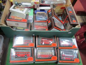 """Fourteen E.F.E 1/76 Scale Boxed Buses/Coaches, various liveries, plus to """"Days Gone"""" trackside"""