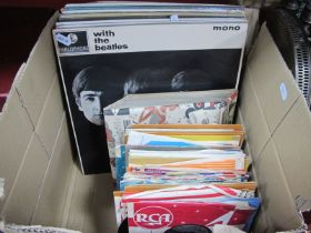"""A Collection of Nineteen LPs, and a quantity of 7"""" singles from the 50's and 60's, LPs include"""