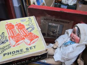 Vintage Toys - A boxed 'Johnny Seven' Phone Set, a boxed Lott's Chemistry Set, plus an early XIX
