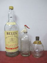 Vintage Soda Syphon Bottle, with etched name J.W White & Son, mineral water manufactures Elwes St,