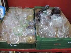 A Quantity of Glassware:- Two Boxes.