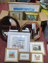 Mirrors, signed prints, original artwork etc:- One Box.