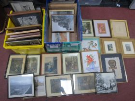 Original Artworks, Cries of London prints, Oriental, other pictures:- Two Boxes.
