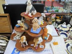 The World of Puppies Porcelain Sculpture Collection by Franklin Mint, a collection of twelve models,