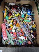 Matchbox, Corgi and Other Diecast Vehicles, plastic soldiers and animals, Malerne flute:- One Box