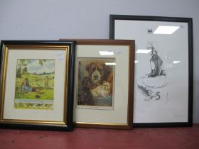 Bryan Organ 1974 Limited Edition Print, 131/150 of A Jockey Tony Murray, signed bottom right, with