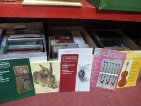 The Strad Magazines 1979 - 2008, many issues, auction catalogues, books on art.