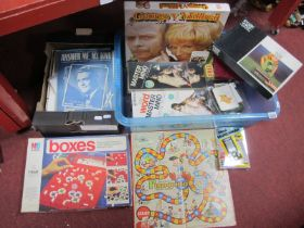 George-Mildred Dice Game, Snake Eyes a casino game, Mastermind etc, together with musical sheet