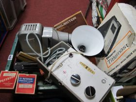 Maggair Fan, angle poise lamp, tilemaster, gnome projector, etc:- One Box.