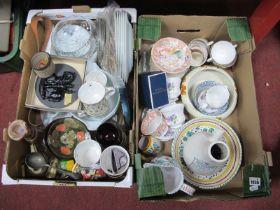 Pyrex Plates, tureens, V.A mugs, glass bowl:- One Box.
