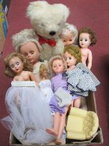 A Collection of Dolls to include Palitoy dolls, Sheena with original outfit, two Chiltern Teenage