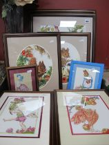 Antony Eight Cross Stick Pictures, of Wild Cherry, Blossom Fairy, Field Mouse, The Crab, Apple