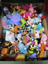 Disney Characters, McDonalds soft toys, etc:- One Box