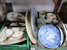 Copeland Spode Blue & White Fruit Bowl, Sadler teapot, Doulton 'Meridian', Historic America, and