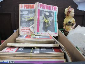 Private Eye Magazines, from 1979, 81, 82, 83, 84, 85, 86:- One Box.