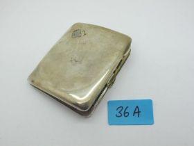 "A Hallmarked Silver Cigarette Case, (dents) inscribed ""RMS Orsova""."