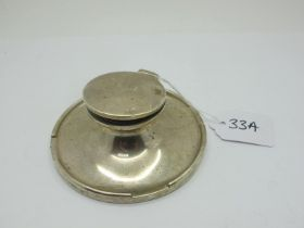 A Hallmarked Silver Capstan Style Inkwell, A.J.Zimmerman, Birmingham 1920, base (weighted) 10.8cm
