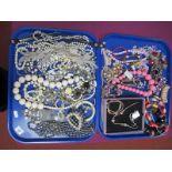 Imitation Pearl Bead Necklaces, Pandora style bracelets and necklaces, large graduated bead
