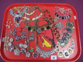 Assorted Modern Costume Necklaces :- One Tray