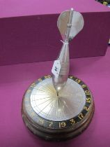 Copeland Trophy Dart Board and Dart, engraved with past winners and sates (1948 to 1960's),