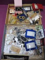 A Selection of Modern Costume Jewellery, including gilt coloured fancy necklaces, earrings,