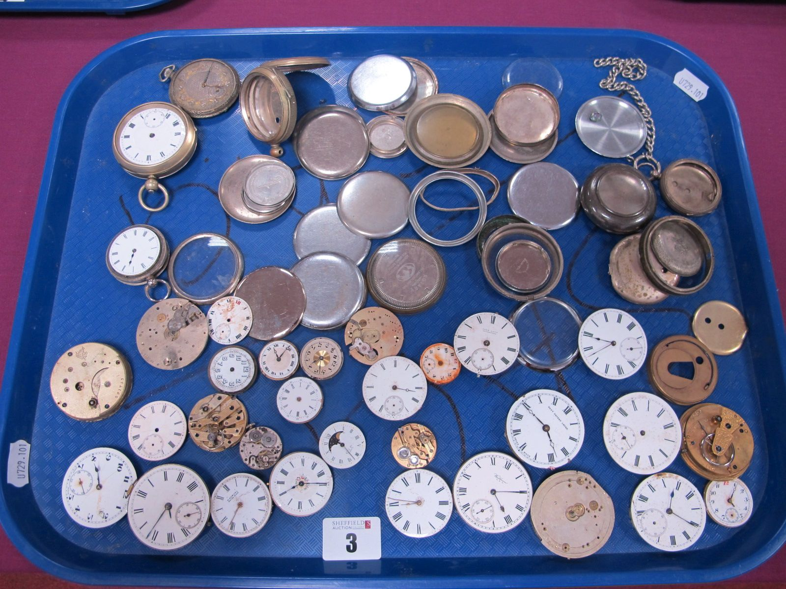 Assorted Pocketwatch Movements / Dials, (damages / incomplete) including Waltham, John Lyon
