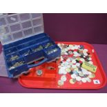 Assorted Wristwatch Dials, watch components / movements etc :- One Tray