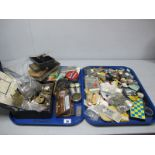 Assorted Mixed Lot of Watch Components, etc :- Two Trays